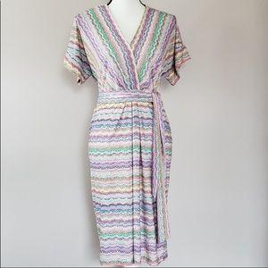 BCBGMaxazria faux wrap dress